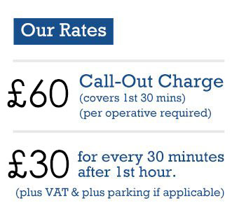 Call out charge £60 first 30mins